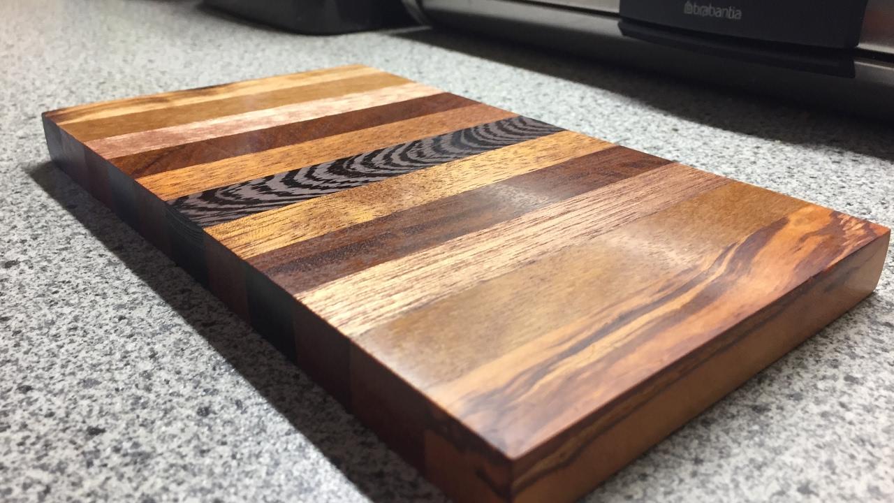 how to make a cutting board schneidbrett diy youtube