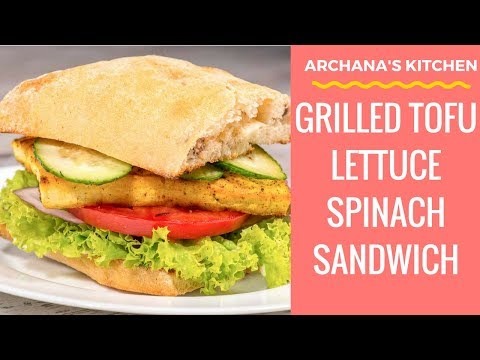 Grilled Tofu Sandwich Recipe - Sandwich Recipes by Archana's Kitchen