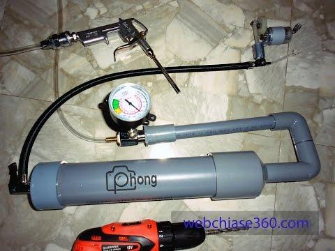Hướng Dẫn Tự Chê Máy Nén Khí Mini Từ ống Nhựa PCP (zalo/phone: 0903572864)
