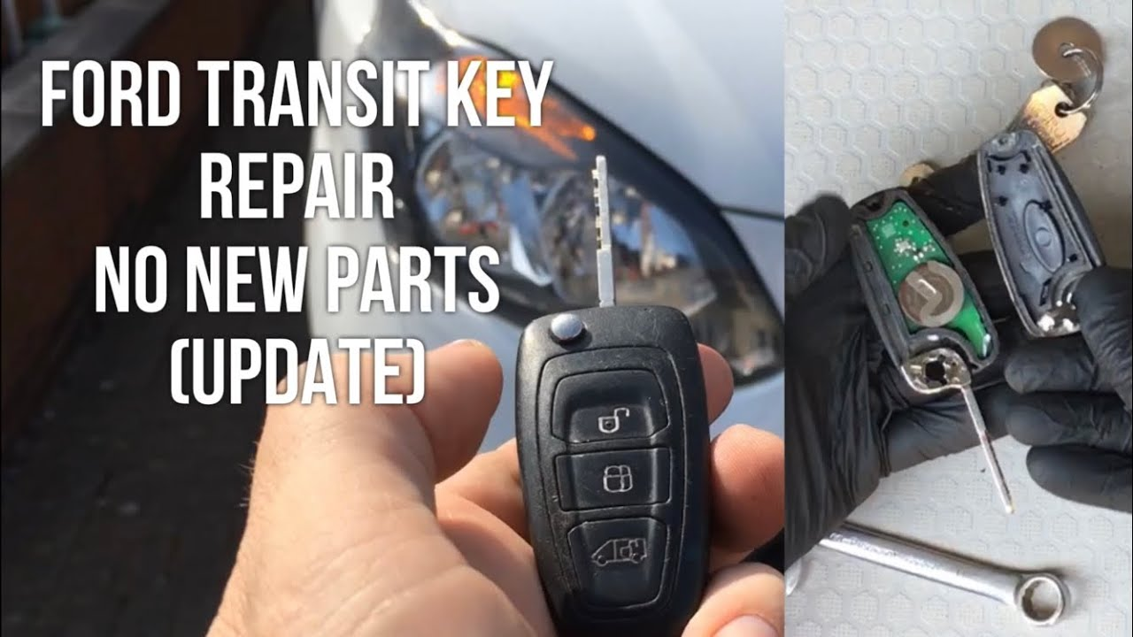 Ford Transit Connect Key Repair Solid Key No New Parts Youtube