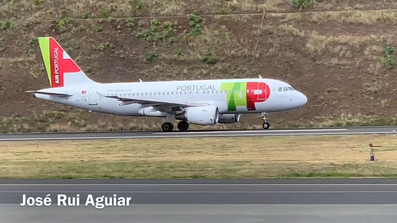 Aviao Da Tap Air Portugal Decolando No Aeroporto Da Madeira Youtube