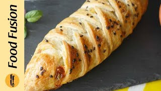 Braided Paratha Pockets with mince pizza filling Recipe By Food Fusion