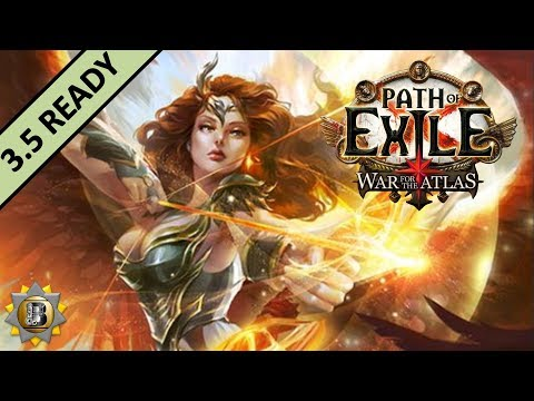 [3.4] Fire Elemental Hit Build - Deadeye Ranger - Path of Exile War For The Atlas - Delve