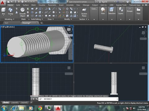 how to make a screw solidworks