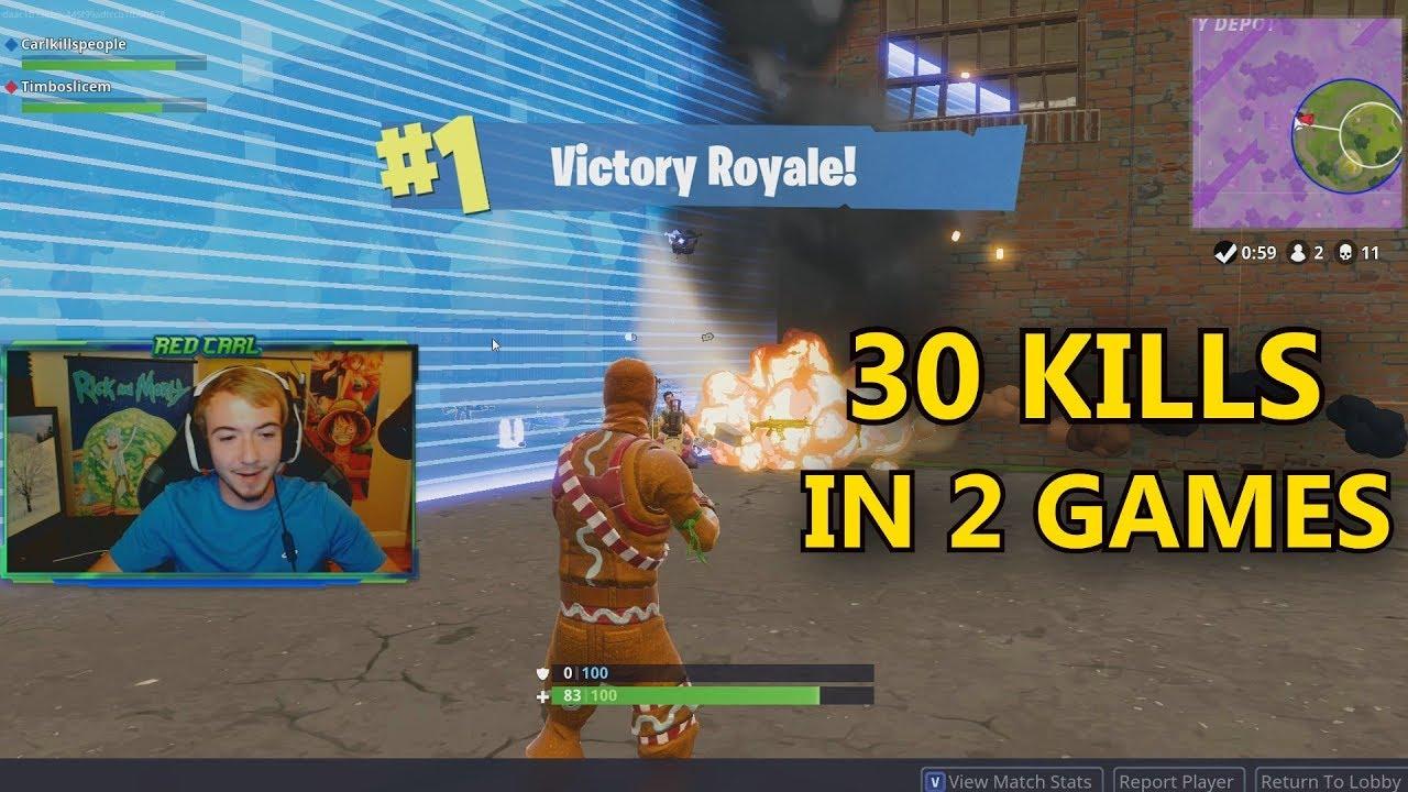 We Won And Got 30 Kills In 2 Games Fortnite Battle Royale