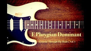 e spanish phrygian backing jam track
