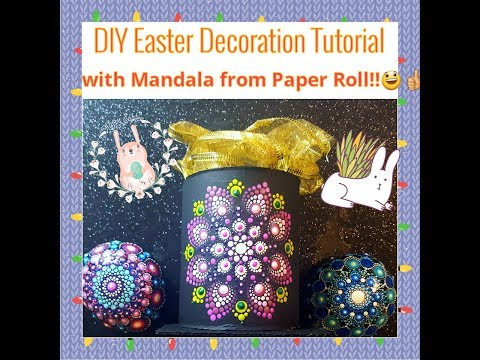 # 18 DIY Easter Decoration with Mandala from simple Paper Roll!