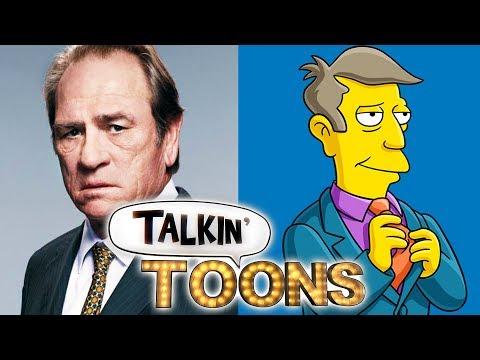 Tommy Lee Jones Visits The Simpsons Talkin' Toons w Rob Paulsen