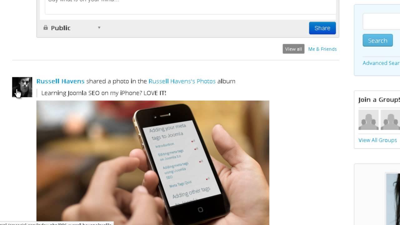iSEO & JomSocial Integration - SEO your Joomla Community Easily