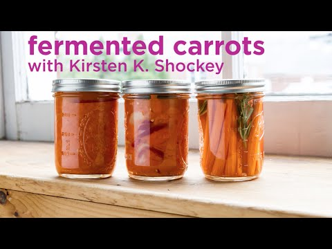 Fermented Carrots, Three Ways