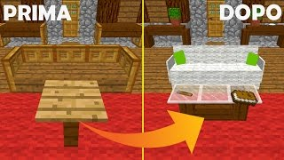[EL] RENDI MODERNA LA TUA CASA DI MINECRAFT | Living Room Furnitures - One Command