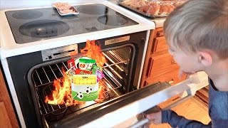 🔥🐰KID FINDS EASTER BASKET IN THE OVEN! KIDS EASTER BASKET HUNT!