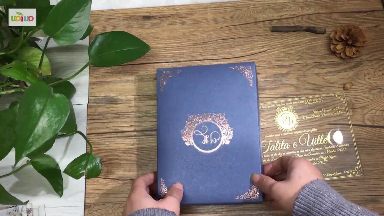 diy acrylic wedding invitations 02 youtube