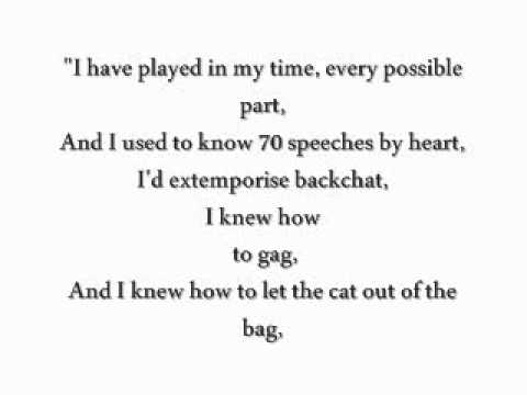 CATS [Original London Cast Recording]; Gus: The Theatre Cat Lyrics