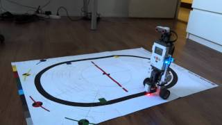 lego mindstorms nxt segway with di imu sensor following a line