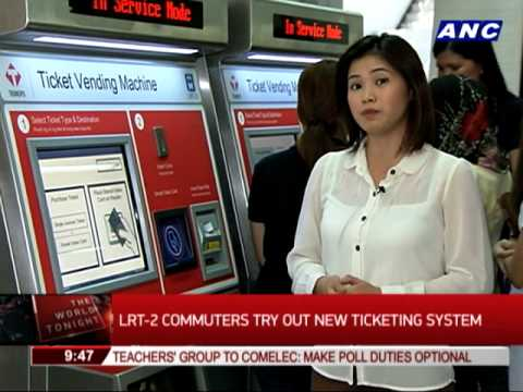LRT-2 commuters try out new ticketing system