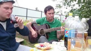 Круто спел под гитару (Cover Алексин - Кошка)
