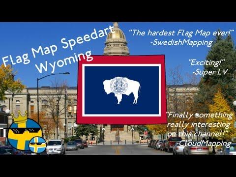 Flag Map Speedart - Wyoming