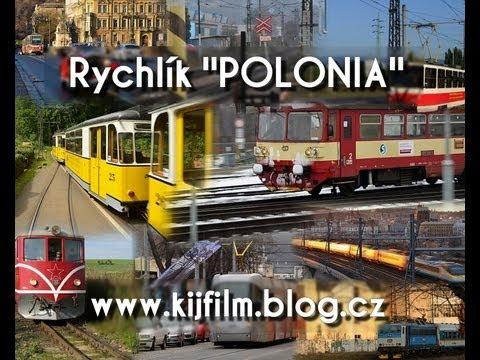 Train in czech rep: EC 102 - Polonia: Břeclav - Bohumín cab. view