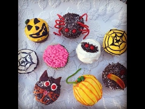 Cooking with cassandra easy halloween cupcake decorating ideas for beginners youtube - Halloween decorations for cupcakes ...