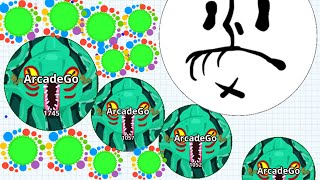 Agar.io Crazy Splitting On Mobile Kraken Skin Takes Over The Server! (Agario Best Moments)