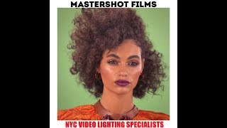 NYC GAFFER LIGHTS A BEAUTY GREEN SCREEN SHOOT IN NYC