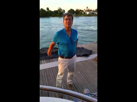 Fleet Admiral Edward J Shipek Jr aboard 59' yacht