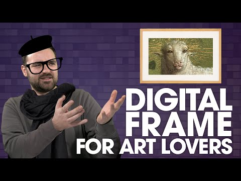 This fancy digital art frame wants to fight your paintings