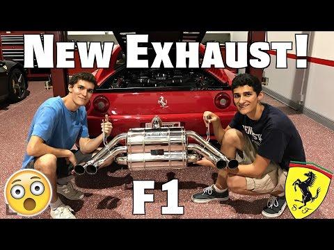 Ferrari 355 Gets New Capristo Exhaust!! (In a Hurricane)