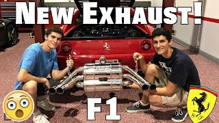 ferrari 355 gets new capristo exhaust in a hurricane