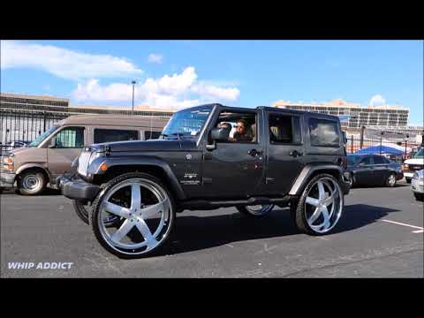 WhipAddict: First Jeep Wrangler 4 Door on brushed DUB Baller 32s with 5th Wheel!