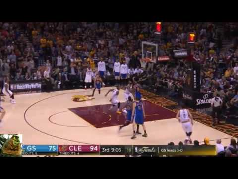 LeBron James alley oops it to himself - 2017 NBA Finals game 4