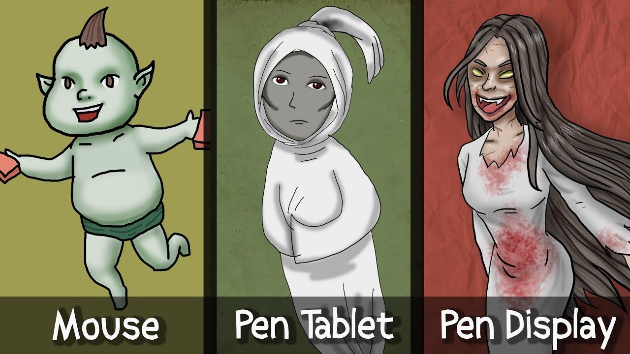Bagus mana? Menggambar di  Mouse vs pen tablet vs Pen Display? ft Wacom One