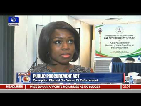 Public Procurement Act: Corruption Blamed On Failure Of Enforcement