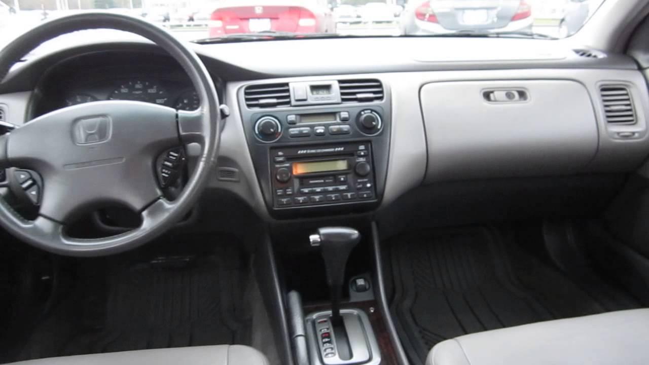 2001 honda accord satin silver stock 29973bl interior
