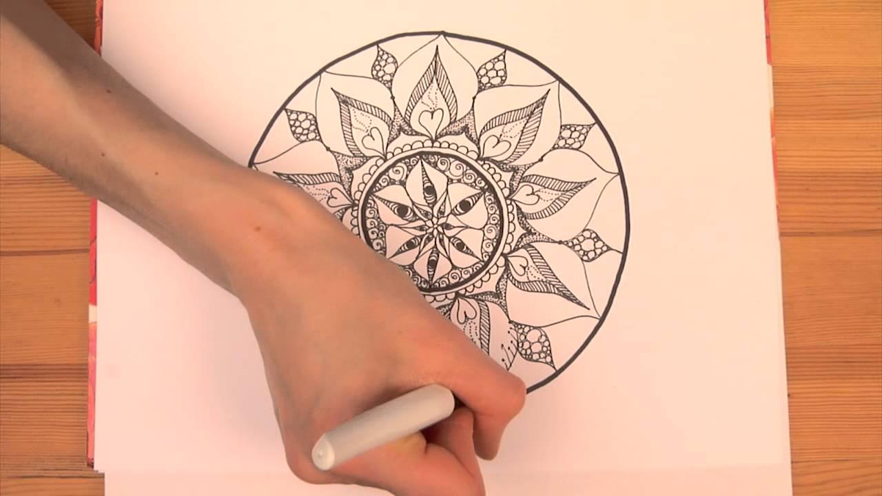Intuitives Mandala Malen Teil 1 Soulart Mandala Youtube
