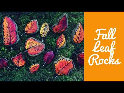 How To Make Painted Rock Leaves