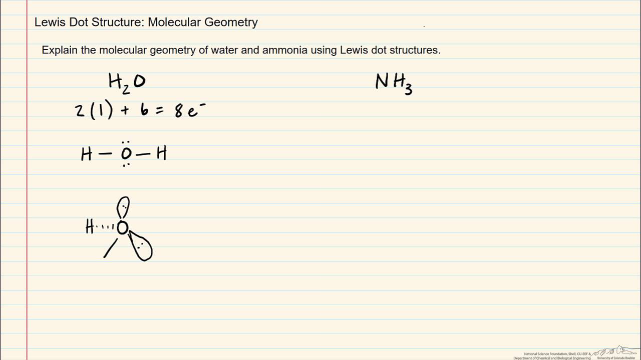 lewis dot structure: molecular geometry (review)