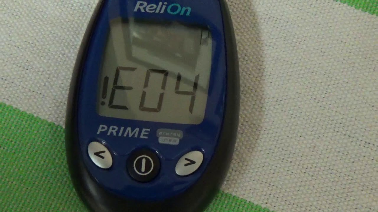 Free Blood Glucose Meter >> ReliOn Meter Error !E04 How to Fix Blood Glucose Monitor ...