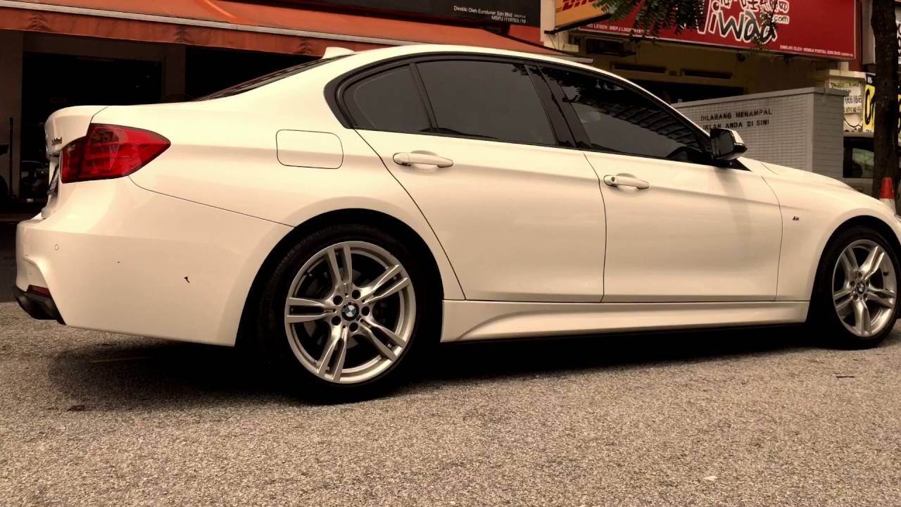 Bmw F30 320d M Performance Aerodynamic Kit Installation Twin Stainless Steel Exhaust Conversion