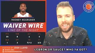 NBA FANTASY | LeBron James Vs Sauce Castillo, Embiid & Simmons Crush, Friday DFS Preview