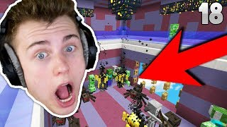 MAKiNG THE BEST XP MOB GRiNDER EVER!! (Minecraft OP SkyBlock) EP. 18