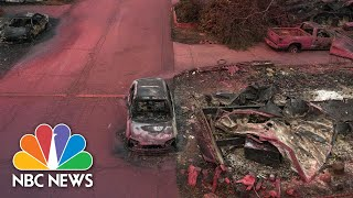 Drone Video Reveals Apocalyptic Scenes After Wildfire Torches Oregon Town   NBC News NOW