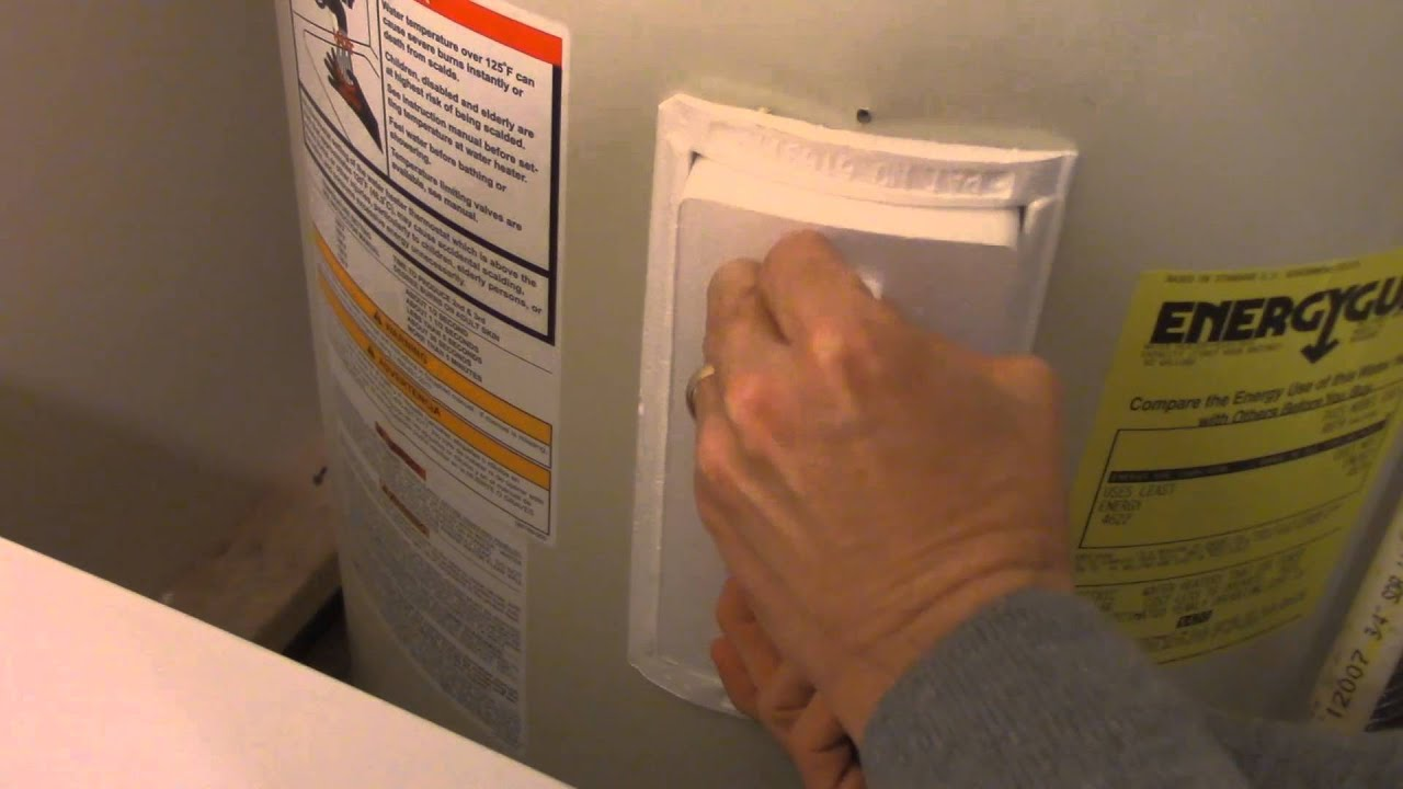 how to reset a water heater shut off button youtube rh youtube com vulcan water heater troubleshooting Water Heater Clip Art