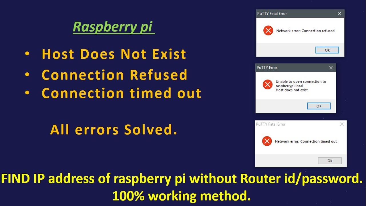 2 Raspberry Pi host Doesnot Exist,Connection refuse, timeout (SOLVED)