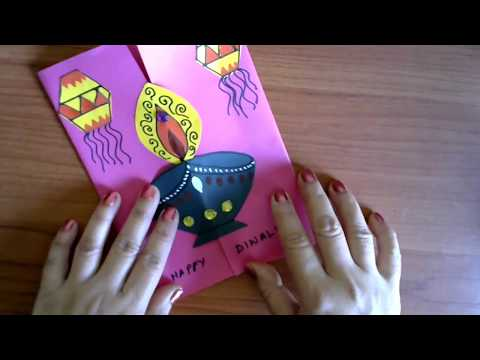 DIY Diwali Card Making Ideas | Easy Handmade Decorative Diya Greeting Card