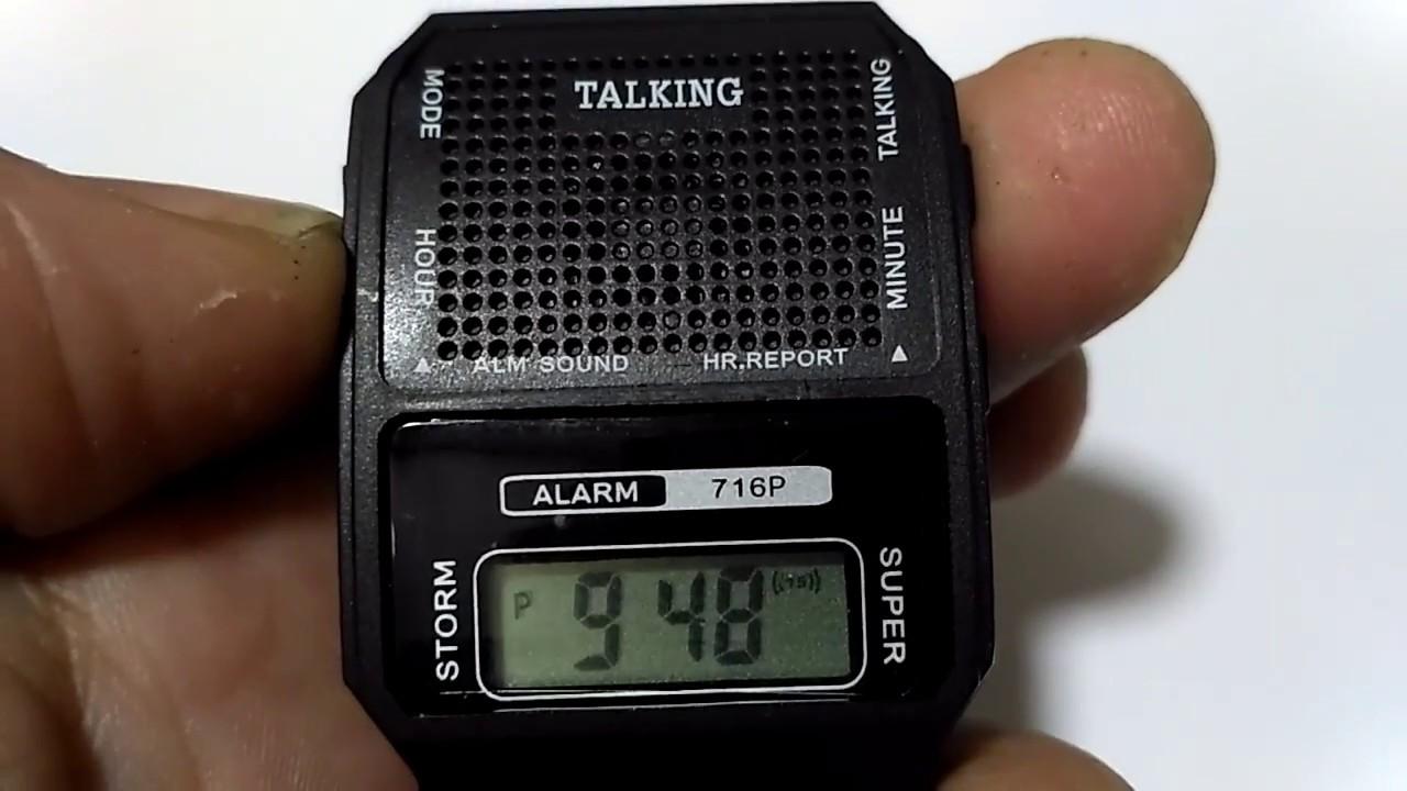 38e406f0e7c Relógio Fala Hora em Português.Bom P  Deficiente Visual E Idoso ...
