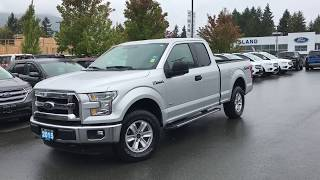 2015 Ford F-150 XLT W/ Tailgate Step, Running Boards, Spray in liner Review| Island Ford