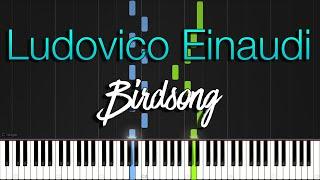 Ludovico Einaudi - Birdsong Synthesia Piano Tutorial