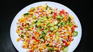 Cалат с крабовыми палочками | Крабовый салат рецепт